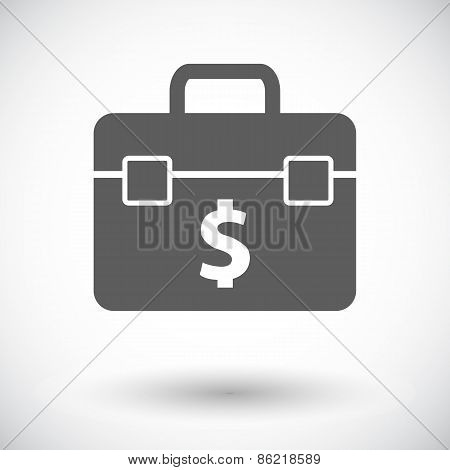 Briefcase flat single icon.