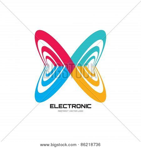 Abstract vector logo illustration. Abstract butterfly logo. Infinity logo. Vector logo template.