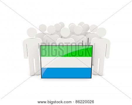 People With Flag Of Sierra Leone