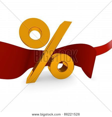 Golden Percent Icon