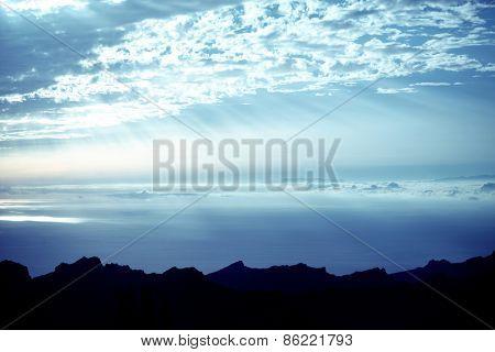 Rural mountains landscape