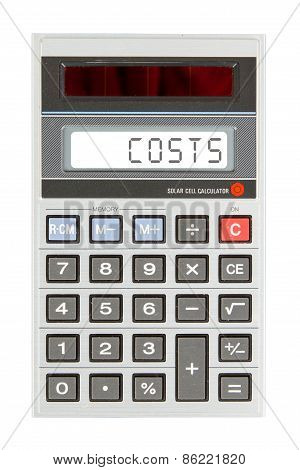 Old Calculator - Costs