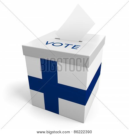 Finland election ballot box for collecting votes