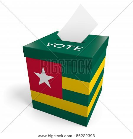 Togo election ballot box for collecting votes
