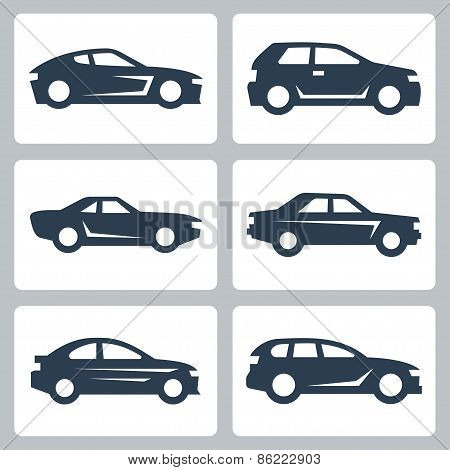 Vector Cars Icons Set, Side View