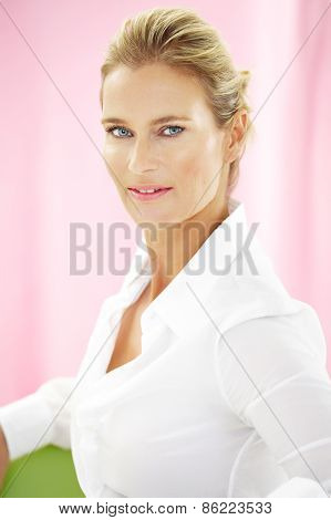 Woman In White Shirt