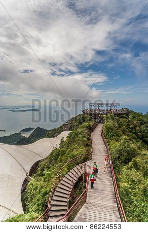 Viewing Platform On The Top Of Langkawi Island