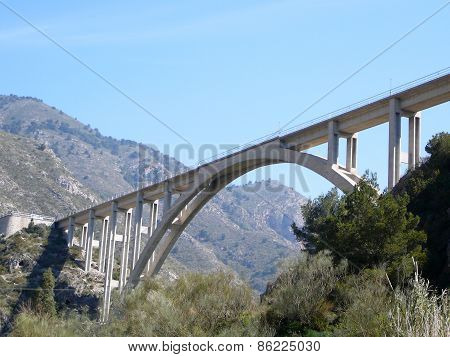 Truss Arch Motorway Bridge