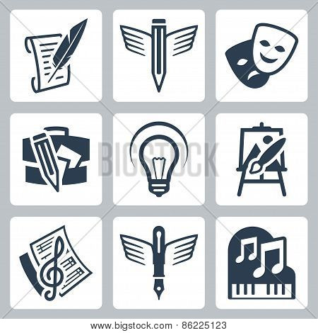 Art Related Vector Icons Set