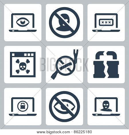 Computer Security Vector Icons Set