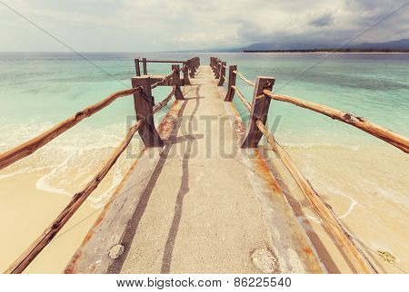 Tropical beach in Gili