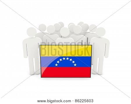 People With Flag Of Venezuela