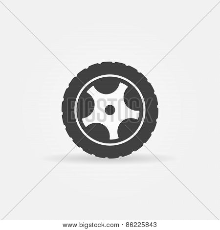Black wheel icon or logo