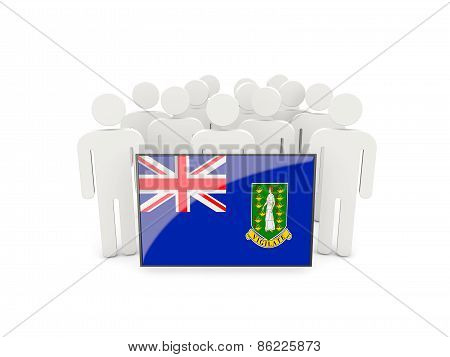 People With Flag Of British Virgin Islands