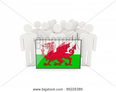 People With Flag Of Wales