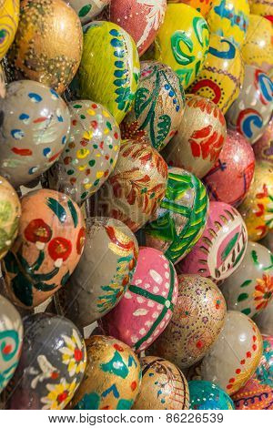 Ukrainian Easter Eggs In Different Colors