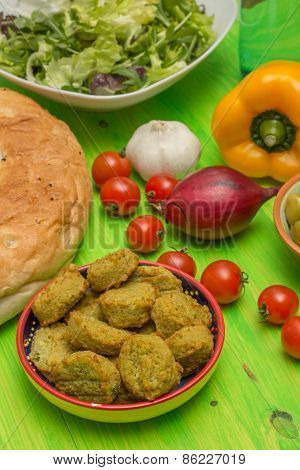 Ingredients To Make A Falafel Sandwich