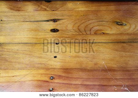 Closeup of wooden boards background