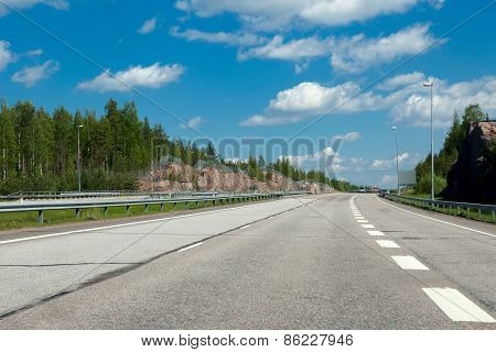 view of the highway in Finland