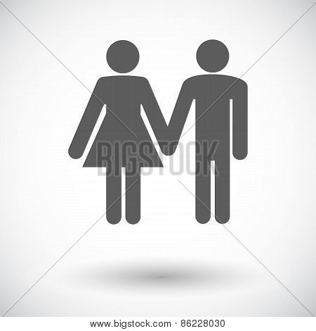 Couple sign