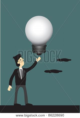 Businessman With Big Idea