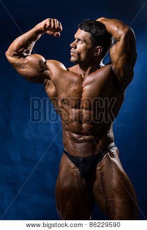Handsome Muscular Bodybuilder Posing