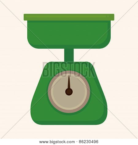 Kitchenware Weight Scale Theme Elements