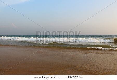 Waves on the beach of Koggala