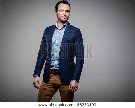 Sharp dressed fashionist wearing jacket