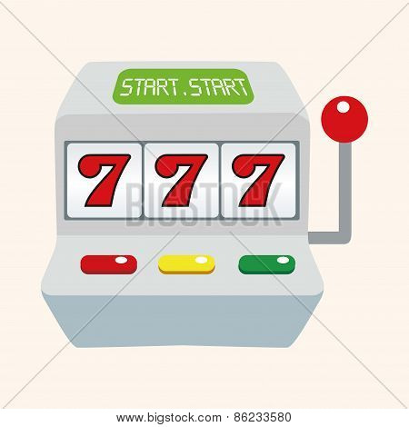 Casino Slot Machine Theme Elements