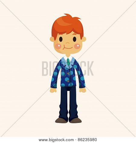 Boy Man Cartoon Theme Elements