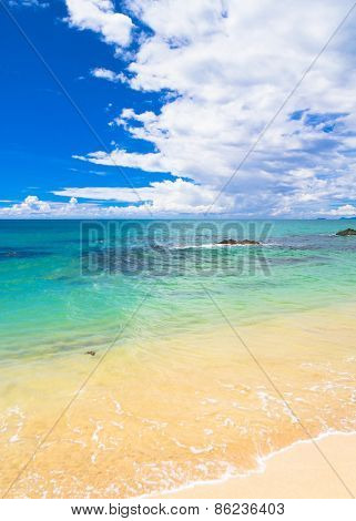 Divine Coastline Serene Waters