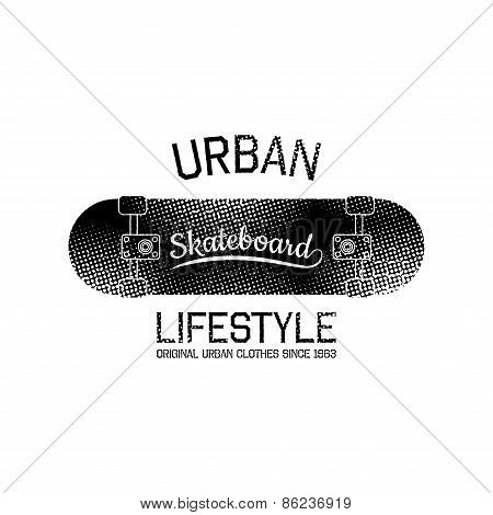 Stamp Of Urban Lifestyle For Typography