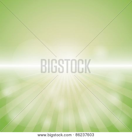 Empty Green Color Background With Sunburst at the lower side. for sample text.
