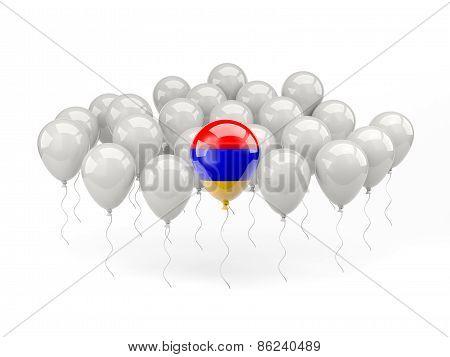 Air Balloons With Flag Of Armenia