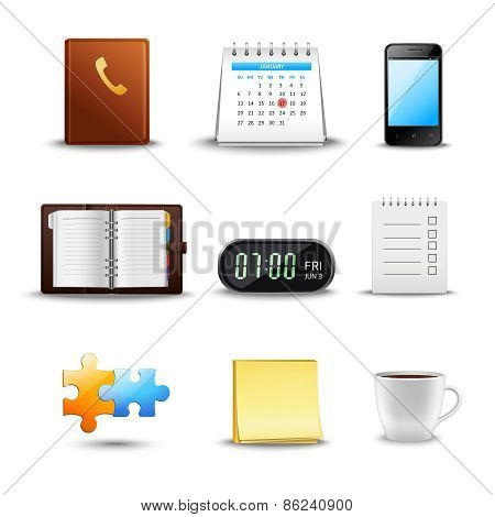 Realistic Time Management Icons