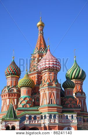 Cathedral on Red Square in Moscow, Russia