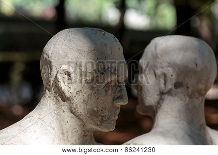 Statue in Rodin Museum in Paris. France