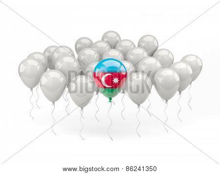Air Balloons With Flag Of Azerbaijan