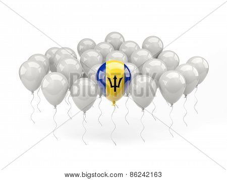 Air Balloons With Flag Of Barbados