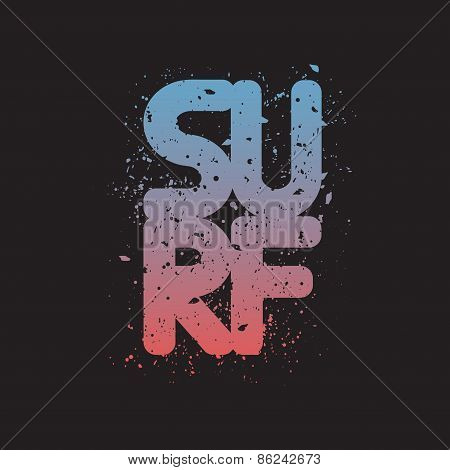 Illustration of Surfing for Typography
