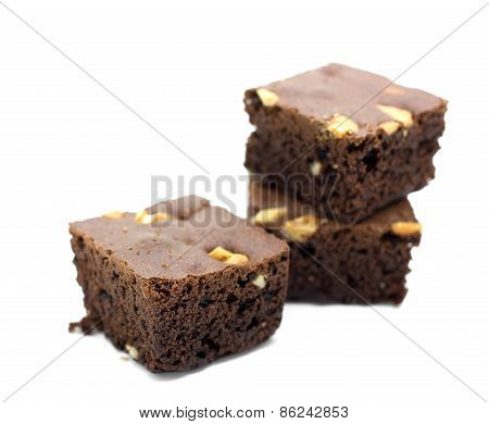 Brownie On White Background.