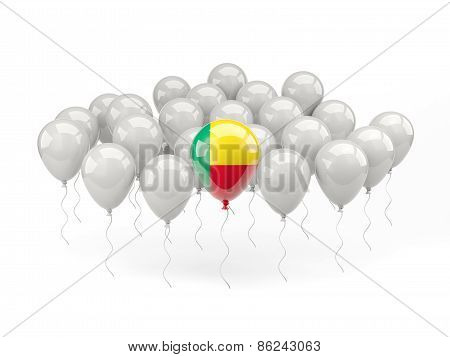 Air Balloons With Flag Of Benin