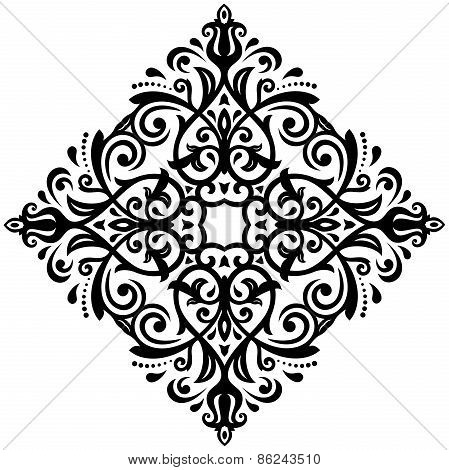 Floral Vector Pattern. Orient Abstract Background