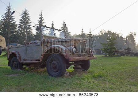 Old military off-road vehicle