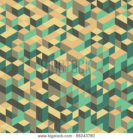 3d blocks structure background. Vector illustration. Background for business presentation.