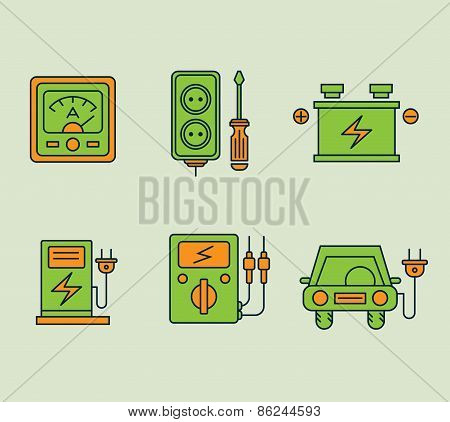 Ecological Icons Set