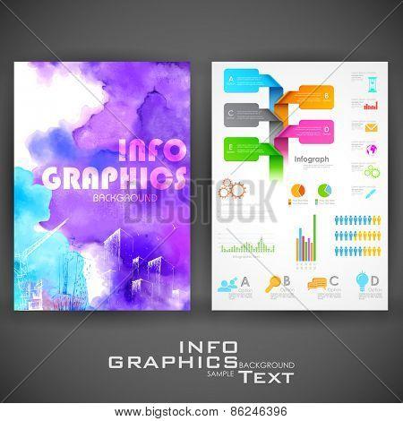 illustration of business infographics flyer for presentation