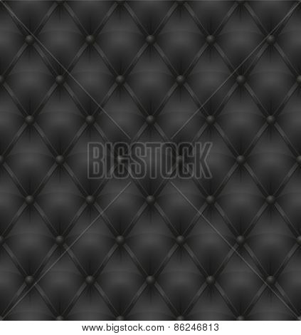 Black Leather Upholstery Seamless Background