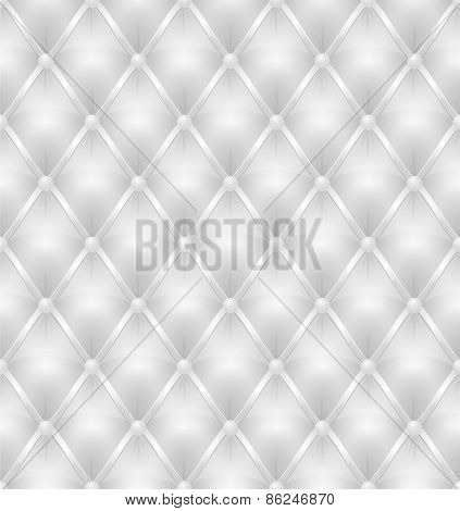 White Leather Upholstery Seamless Background